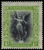 Barbados 1920-21 1s Victory lightly mounted mint.