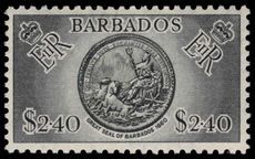 Barbados 1953-61 $2.40 mounted mint.