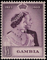 Gambia 1948 Silver Jubilee top value unmounted mint.