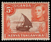 Kenya Uganda & Tanganyika 1938-54 5c red-brown and orange perf 13x12½ unmounted mint.