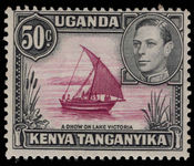 Kenya Uganda & Tanganyika 1938-54 50c perf 13x12½ dot removed lightly mounted mint.
