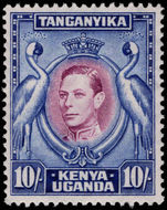 Kenya Uganda & Tanganyika 1938-54 10s perf 13¼x13¾ lightly mounted mint.