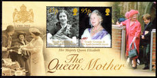 South Georgia 2002 Queen Mother souvenir sheet unmounted mint.