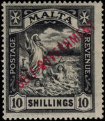 Malta 1922 10s Self-Government lightly mounted mint.