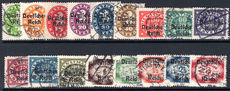 Third Reich 1920 Official set for Bavaria to 3m fine used.