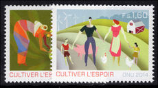 Geneva 2014 International Year of Family Farms: Hope plants unmounted mint.