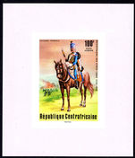 Central African Republic 1976 100f French Hussar imperf souvenir sheet unmounted mint.