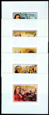 Chad 1976 American Revolution set in single imperf souvenir sheets unmounted mint.