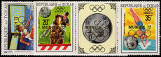 Chad 1970 Athens Olympics with Gold Overprint unmounted mint.
