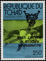 Chad 1979 Viking 250fr inverted overprint unmounted mint.