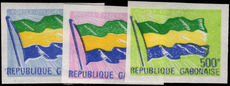 Gabon 1971 30f 100f and 500f officials imperf unmounted mint.