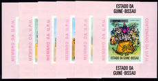 Guinea-Bissau 1976 UPU set in imperf single blocks black overprint unmounted mint.