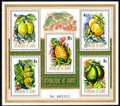 Guinea 1974 Fruits souvenir sheet unmounted mint.