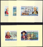 Malagasy 1976 American Revolution single imperf block set unmounted mint.