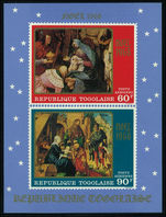Togo 1968 Christmas souvenir sheet unmounted mint.