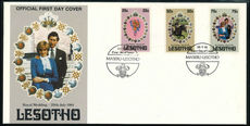 Lesotho 1981 Royal Wedding first day cover imperf.