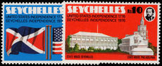 Seychelles 1976 American Revolution unmounted mint.