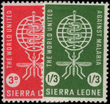 Sierra Leone 1962 Malaria Eradication unmounted mint.