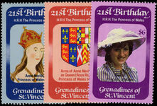 St Vincent Grenadines 1982 Princess of Wales Birthday unmounted mint.