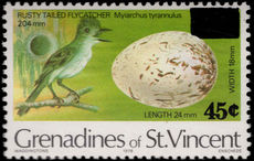 St Vincent Grenadines 1983 Bird 45c Provisional unmounted mint.