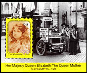 Gambia 1990 Queen Mothers 90th birthday souvenir sheet unmounted mint.