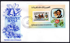 Mauritania 1982 Birth of Prince William souvenir sheet First Day Cover.