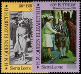 Sierra Leone 1986 60th Birthday surcharged unmounted mint.