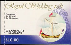 St Vincent Grenadines 1981 Royal Wedding booklet unmounted mint.