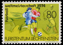 Liechtenstein 1974 World Cup Football unmounted mint.