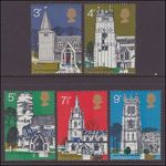 1972 British Architecture. Village Churches unmounted mint.