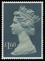 £1.60 pale drab and deep greenish blue unmounted mint.