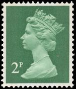 X849 2p myrtle-green (2 bands) unmounted mint.