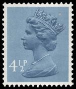 X865 4½p grey-blue (2 bands) unmounted mint.