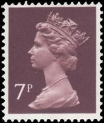 X875 7p purple-brown (1 centre band) unmounted mint.