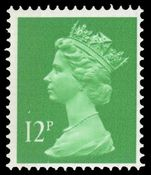X897Ea 12p bright emerald (side band left) unmounted mint.