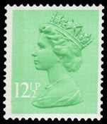 X899Ea 12½p light emerald (side band left) unmounted mint.