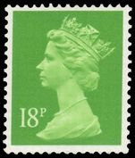 X913 18p bright green (1 centre band) unmounted mint.