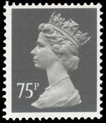 X994 75p grey-black (face value 367a) Harrison ordinary paper unmounted mint.