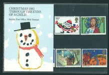 1981 Christmas. Children's Pictures Presentation Pack.