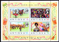 Barbuda 1973 Carnival souvenir sheet unmounted mint.