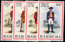 Barbuda 1975 Military Uniforms unmounted mint.