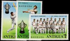 Barbuda 1975 World Cup Cricket Winners unmounted mint.