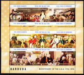 Barbuda 1976 American Revolution souvenir sheet unmounted mint.