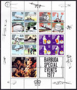 Barbuda 1977 Special Events souvenir sheet unmounted mint.