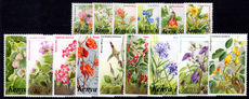 Kenya 1983 flowers, selection of values unmounted mint.