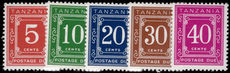 Tanzania 1978 Postage due set to 40c unmounted mint.