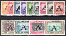 Colombia 1950 1st Avianca set unmounted mint light gum toning.