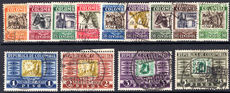 Colombia 1932-39 set (less 1p) fine used.