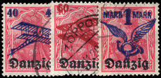 Danzig 1920 Air overprint set fine used.