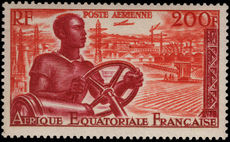 French Equatorial Africa 1953-55 200f Native Driver unmounted mint.